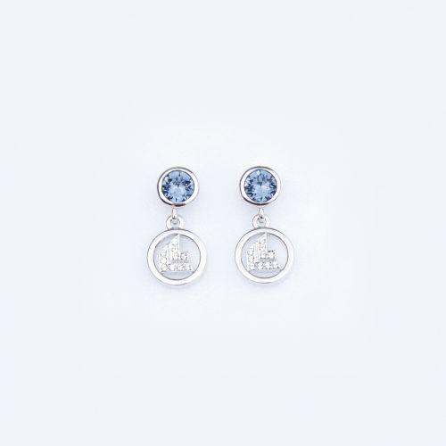 "Earrings ""denim blue"""